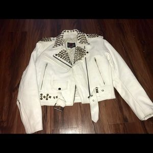 Jackets & Blazers - Leather studded jacket